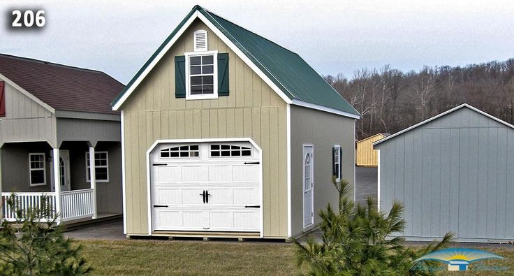 One Car Two Story Garage | Two Story Prefab Garages | Horizon Structures