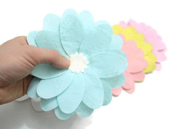 Check out this item in my Etsy shop https://www.etsy.com/listing/127921990/pastel-colours-5-set-large-felt-petal