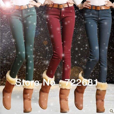 бесплатная доставка 2013 новый дизайн зима бархатные толстые карандаш брюки женские большой размер джинсы модные леггинсы брюки 8 размеры, п...