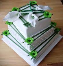 Výsledek obrázku pro svatební dorty zelené bílé