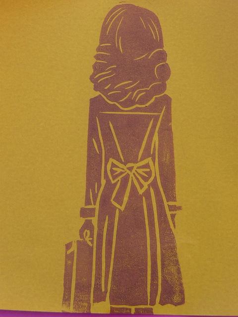 Liu Ye inspired linocut print by English Girl at Home, via Flickr
