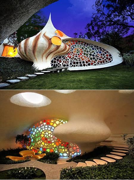 Colorful Snail House in Mexico City