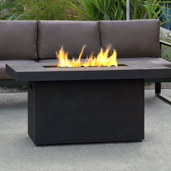 Ventura Concrete Propane Gas Fire Pit Table Gas Fire Table