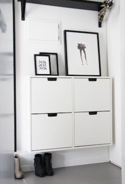 How to style an ikea shoe cabinet