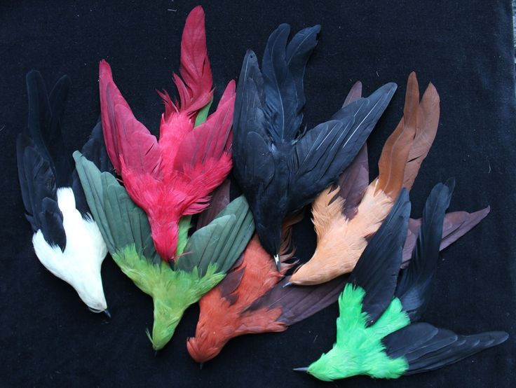 Birds - Vintage Feathers Made in France. Probably Lemarie.