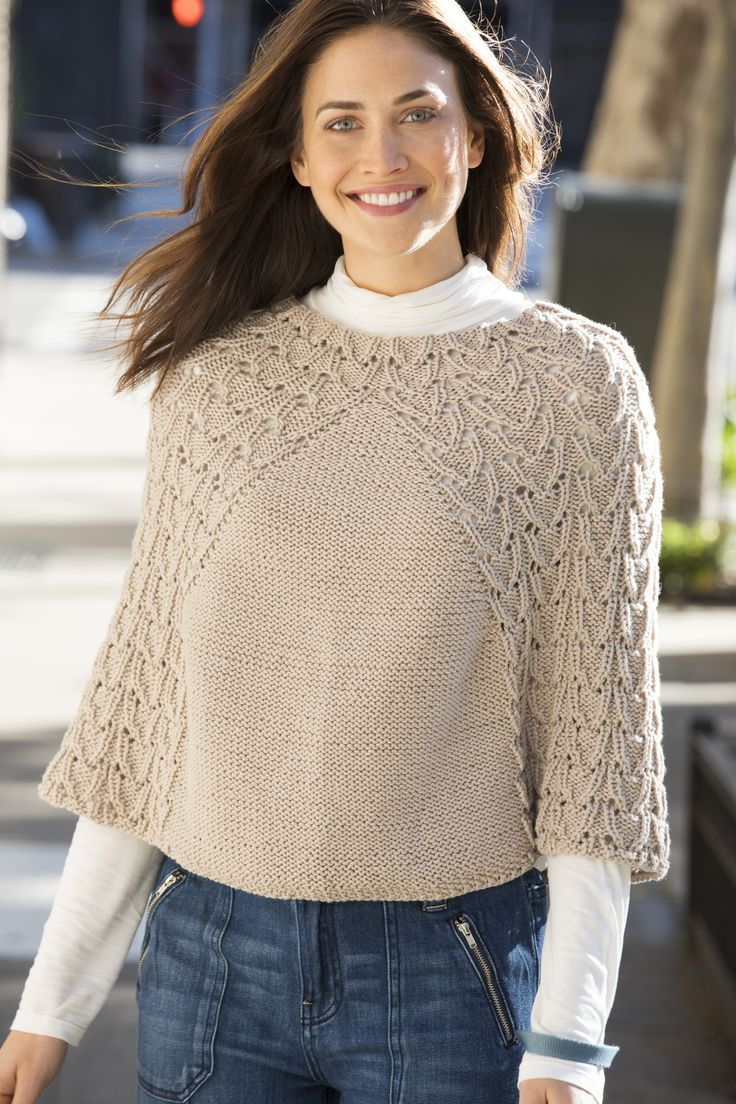 Waverly Place Poncho in Stacy Charles Fine Yarns Patti