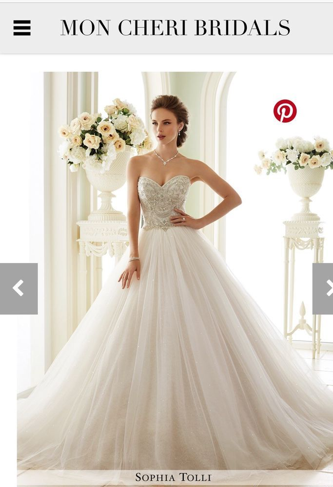 Mon Cheri Wedding Dress 21663 Color Ivory Blush Size 22 Brand New
