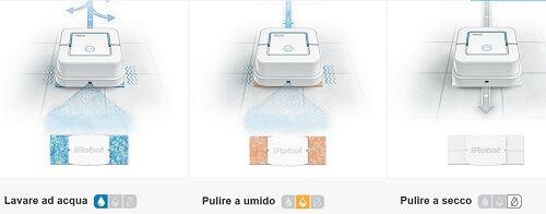 iRobot Braava jet™ ha 3 modalità di pulizia http://www.unacasapiugrande.it/addio-sporco-quotidiano-con-braava-jet/