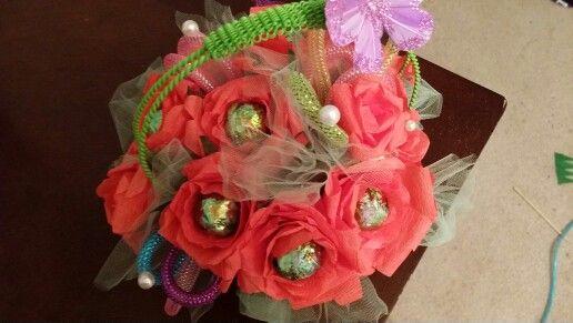 Chocolate , flowers