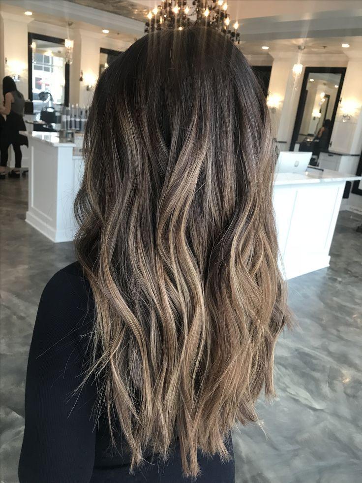 Über 55 Haarschnitte für braunes Haar mit Glanzlichtern – Frisurentrends 2018 und Haar Ideen