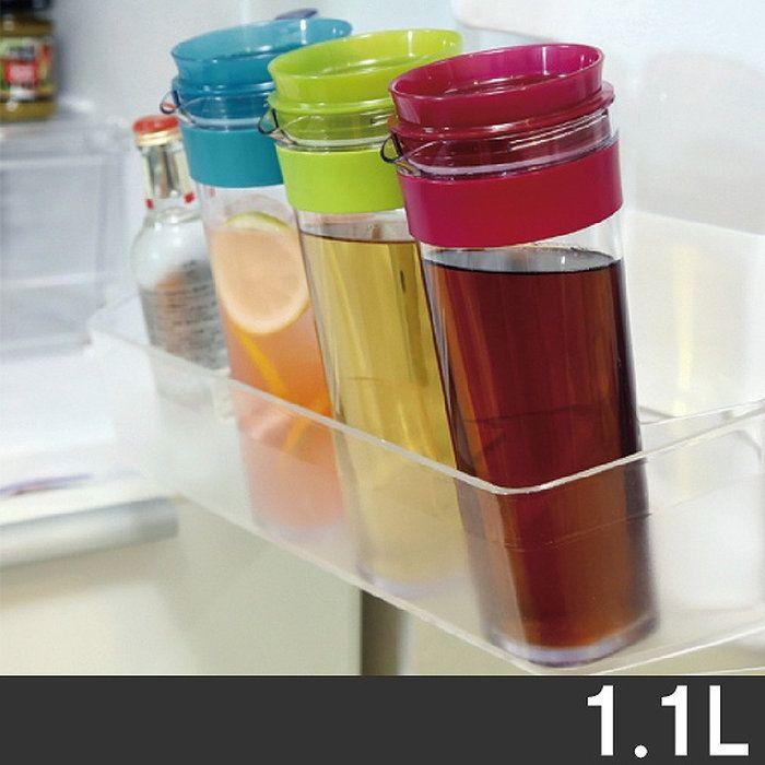 冷水筒スリムジャグ1.1L横置き縦置き(ピッチャー冷水ポット麦茶ポットキッチン用品水差し耐熱1リットル)