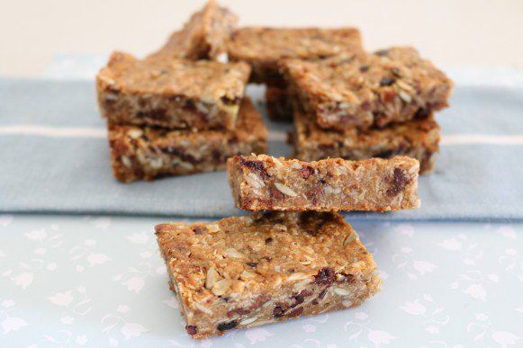 This is the only muesli bar recipe you'll ever need! These Soft & Chewy Homemade Muesli Bars are packed full of lots of healthy bits!