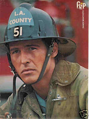 Randolph Mantooth as Johnny Gage on Emergency! My friend got me a pic of him from a teen magazine because I had such a crush on him. Funny...I ended up marrying a paramedic/firefighter! :)