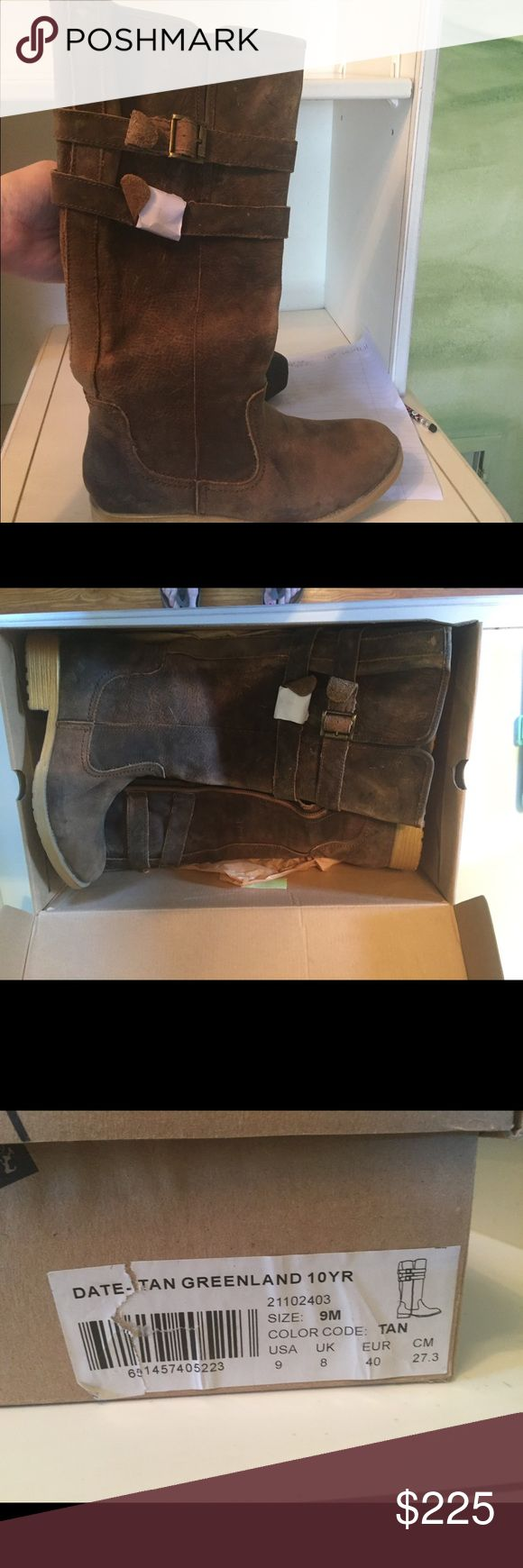 NIB tan boots These are so fashionable and luxurious quality Bed Stu Shoes Heeled Boots