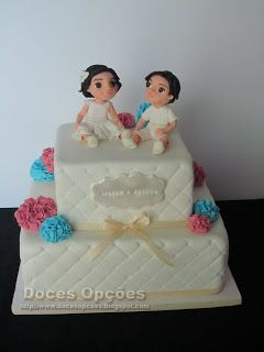 Doces Opções: Bolo para o baptizado dos gémeos