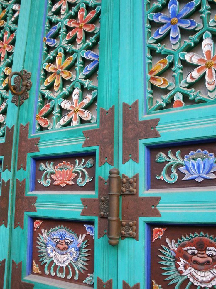 #doors at Gakwonsa temple doors in South Korea