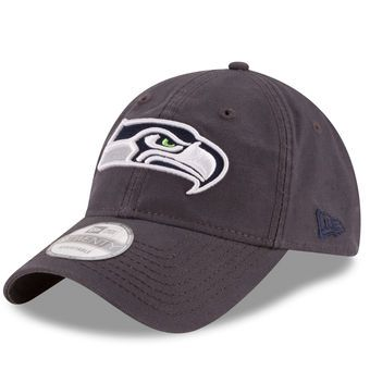 Men's New Era Graphite Seattle Seahawks Grayed Shore 9TWENTY Adjustable Hat