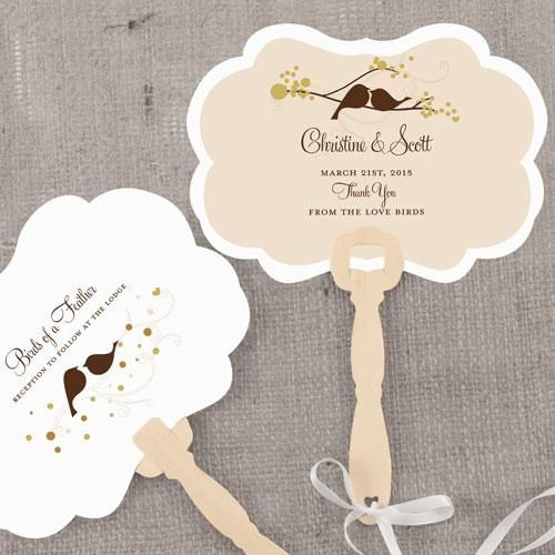 Love Bird Personalized Hand Fan Spring (Pack of 1)