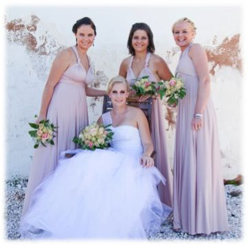 Our blush pink Infinity dresses are the perfect shade for Autumn or Springtime. For more of our beautiful pink shades, please visit: http://infinitybridalwear.co.za/