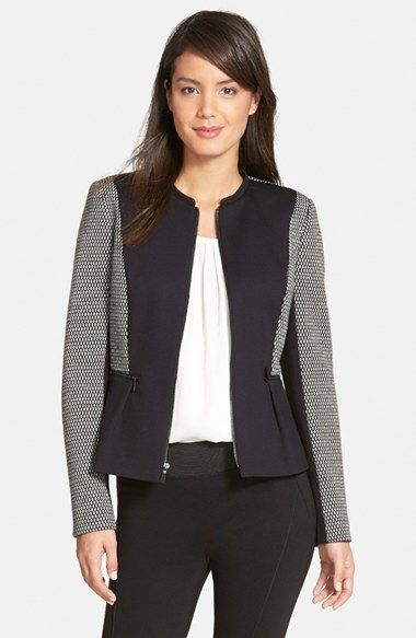 Classiques Entier® 'Giana' Ponte & Double Knit Jacket available at #Nordstrom