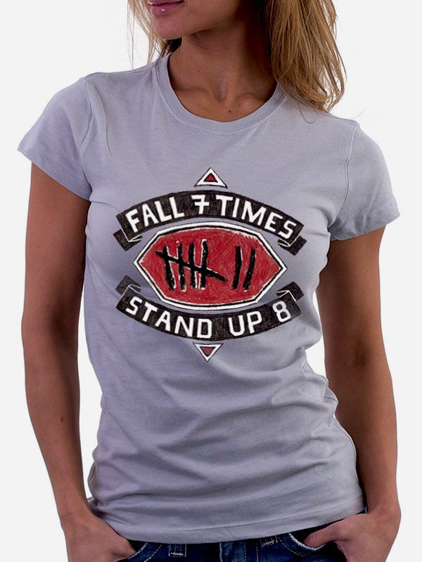 Fall 7 Times Stand up 8 sports t shirt. #sports t shirts