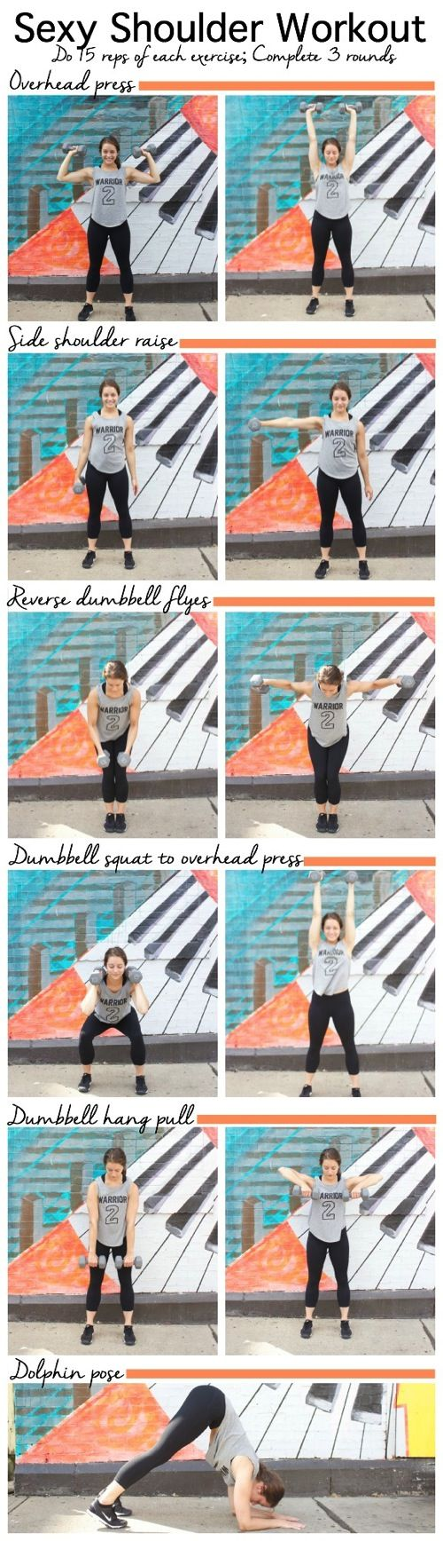 Sexy Shoulder Workout-sculpt your shoulders with this quick shoulder strengthening sequence #workout #fitness