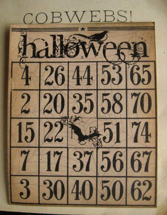 Halloween Bingo Card!