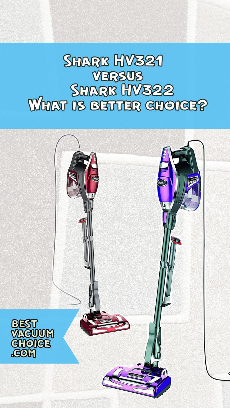 Shark HV321 versus HV322 Best vacuum, Versus, Shark