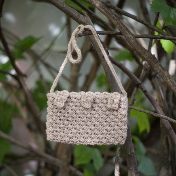 Beige Handbag knitted bag/ Elegant Purses/ by GabriCollection