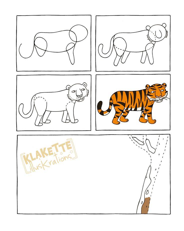 tijger tekenen met kleuters