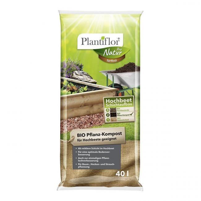 Plantiflor Bio Pflanz Kompost 40 L Bei Hellweg In 2020 Hochbeet Kompost Pflanzen