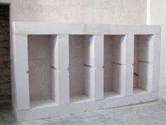 faire des etageres en beton cellulaire recherche google bton cellulaireevier salle de bainmeubles - Cree Un Meuble Salle De Bain En Dur