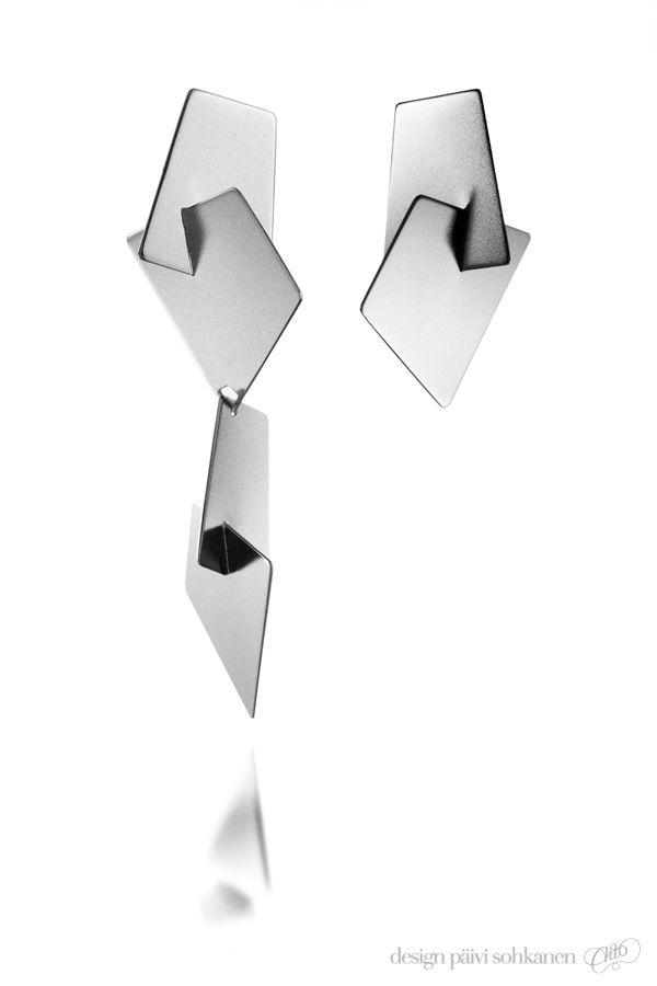 Design Päivi Sohkanen, Earrings, silver   Photo: Mikael Pettersson     www.paivisohkanen.fi