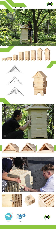 Polish beehive by Katarzyna Koprowska, via Behance