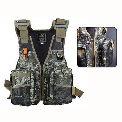 Fly Fishing Backpack Chest Bag Vest Back Pack Fishing Outdoor Adjustable Size