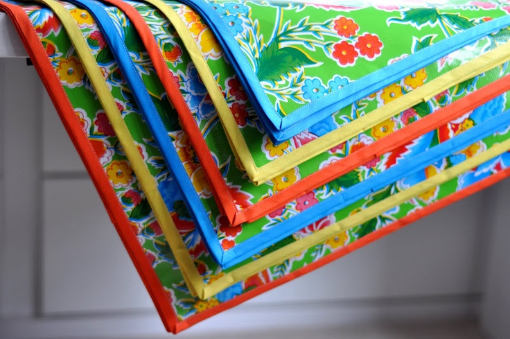 Project 6: Oilcloth placemats for summer