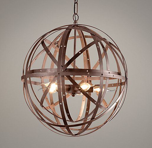 restoration hardware baby lighting. restoration hardware baby u0026 childu0027s orbital sphere small pendant rustevoking an industrialera character with its riveted fabrication and rustic finish lighting r