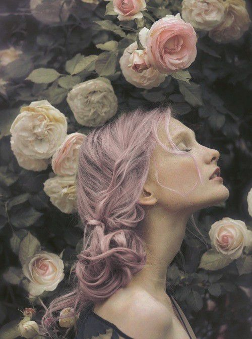 Lilac hair and roses!
