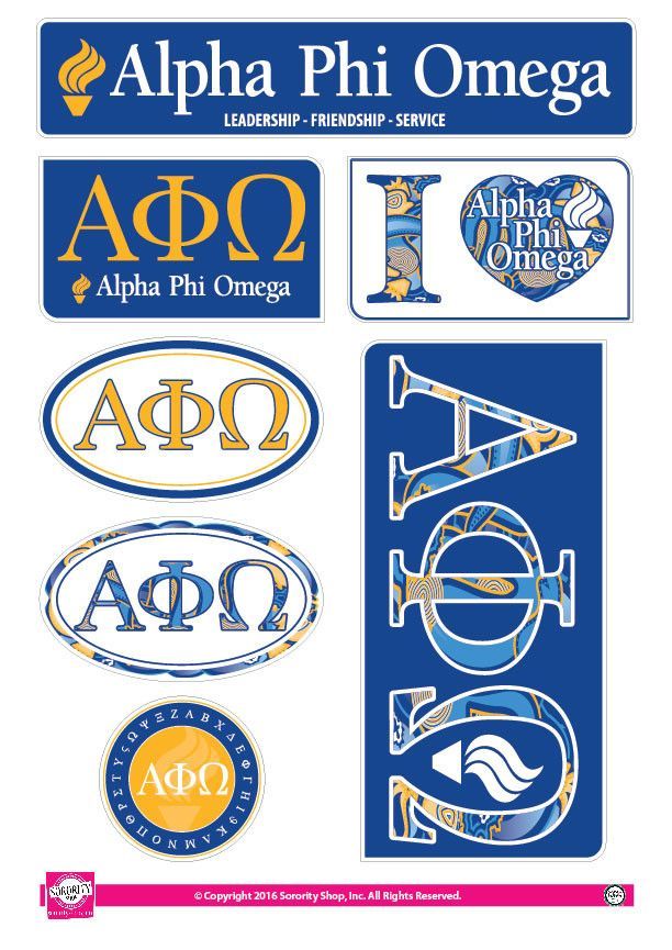 Alpha Phi Omega Lifestyle Stickers