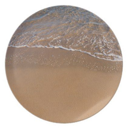 Golden Delicious sand on the beach Dinner Plate - golden gifts gold unique style cyo