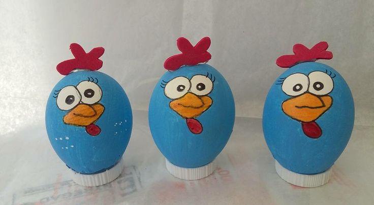 Huevos de confeti gallina pintadita