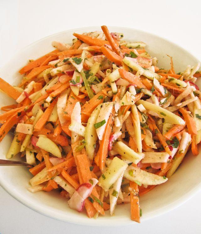 Sweet Potato, Celery, and Apple Salad, Wholeliving.com #meatlessmonday #vegetarian #lunchbunch