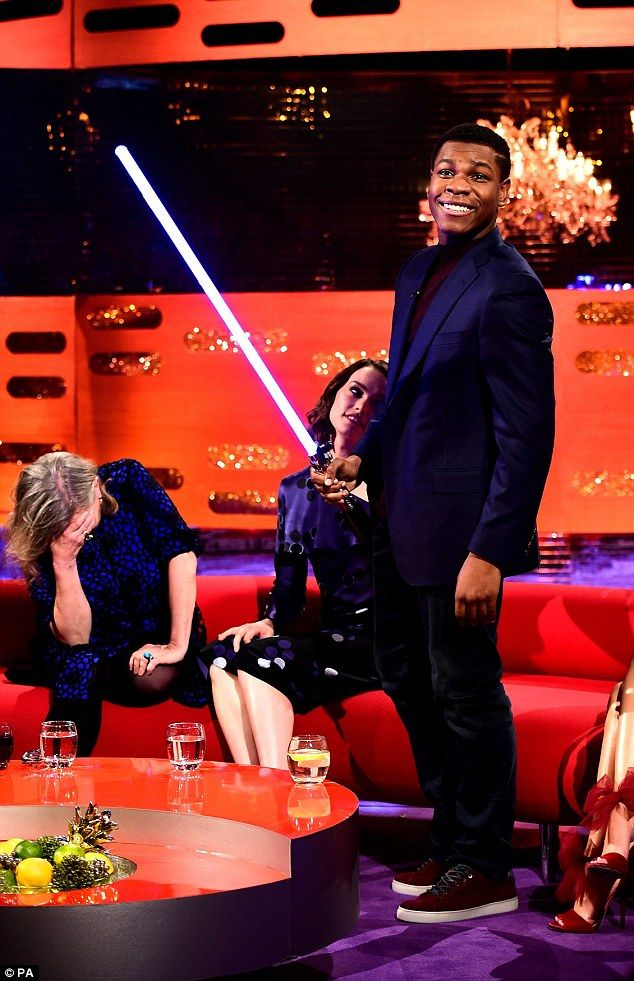 Better than nothing: Boyega joked that his family were just glad he had a job when he reve...