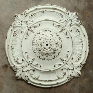 Ornate Metal Chandelier Ceiling Medallion