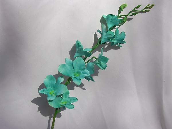 items similar to 4 stems turquoise green dendrobium silk orchid stem on etsy - Silk Orchids