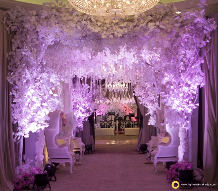 Wedding Venue Decoration: Andhika And Clara's Wedding Reception; Venue At Shangri-La