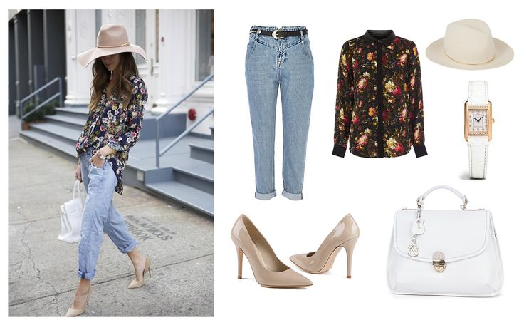 For Sunday afternoon walk in the park! :)  Sheos and Handbag - Clara-Veritas Shrit - Rohho Jeans - River Island Hat - Janessa Leone Watch - LEXINGTON ROSE