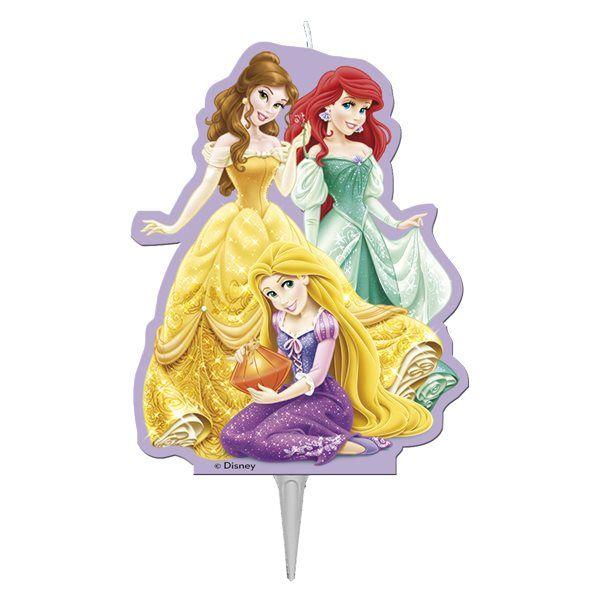 Świeczka na tort dla prawdziwego fanki Księżniczek Disney'a.  Świeczka jest doskonałą dekoracją i będzie prawdziwą niespodzianką dla każdej wielbicielki Księżniczek.