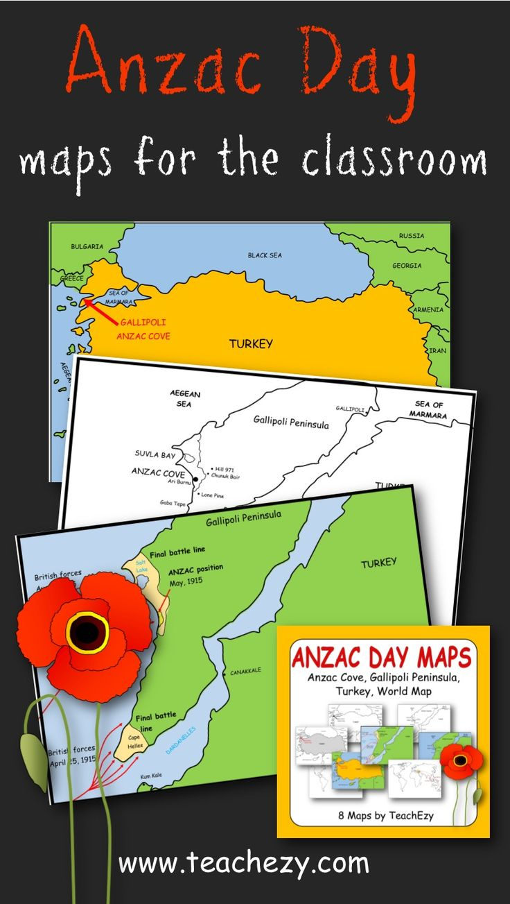 Where is Anzac Cove? Anzac Cove Gallipoli, Turkey and world maps to help children learn about Anzac Day and where it took place.. www.teachezy.com