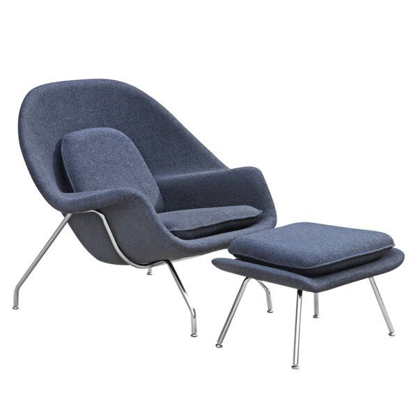 You Ll Love The Bogia Lounge Chair And Ottoman At Allmodern With Great Deals On Modern Living Room Furni In 2020 Chair And Ottoman Set Chair And Ottoman Lounge Chair